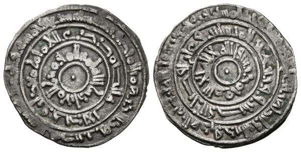307 - CALIFATO FATIMI. Al-Mu´izz. Dirham. 359 H. Al-Mansuriya. Nicol type A 453. Ar. 1,44g. MBC+. - 40€