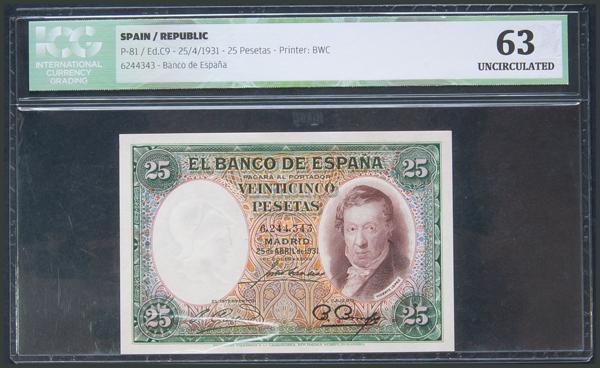 26 - Billetes Españoles