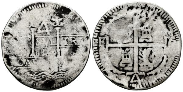 10 - PERIODO DE INDEPENDENCIA. 4 Reales. (Ar. 11,01g/32mm). 1819. Caracas BS. (Cal-1027). BC. Muy Rara. - 1,000€