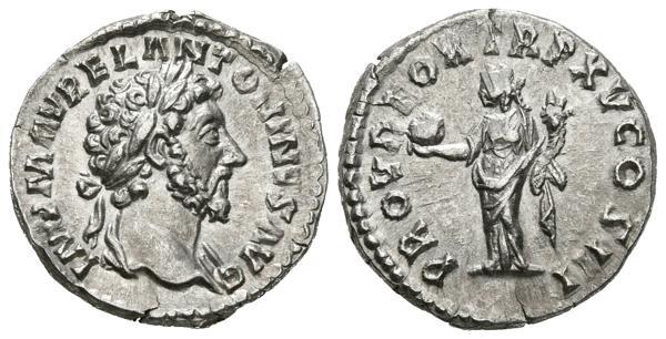 248 - MARCO AURELIO. Denario. (Ar. 3,41g/17mm). 161 d.C. Roma. (RIC 23 var). Variante de busto sin drapeado. EBC. - 120€
