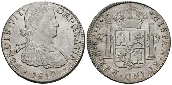 254 - FERNANDO VII (1808-1833). 8 Reales. (Ar. 26,99g/40mm). 1810. México. (Cal-2019-1310). EBC-/EBC+. Restos de brillo original. - 160€