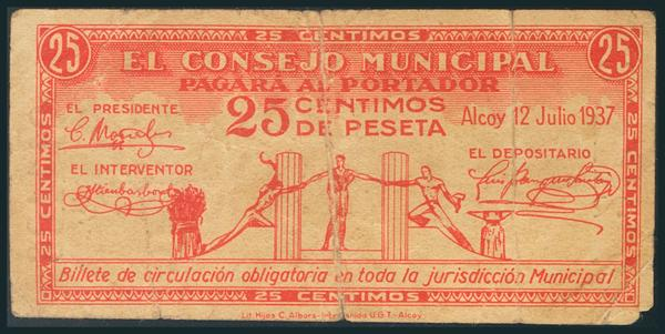 535 - Billetes Guerra Civil