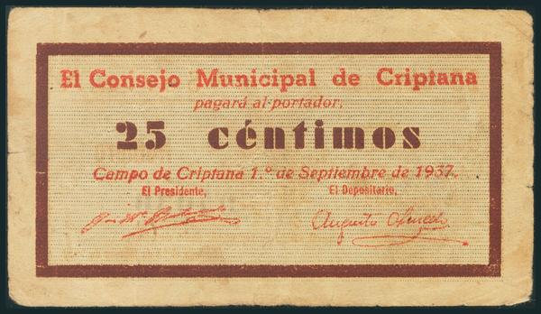 558 - Billetes Guerra Civil