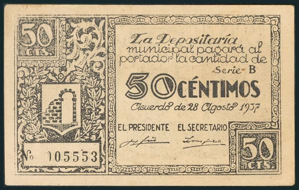 575 - Billetes Guerra Civil