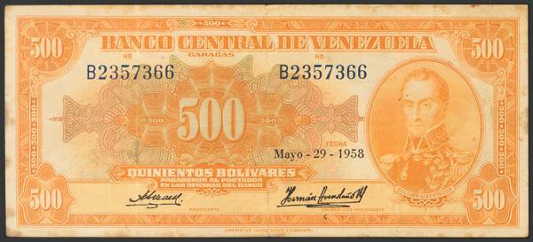 952 - Billetes Extranjeros