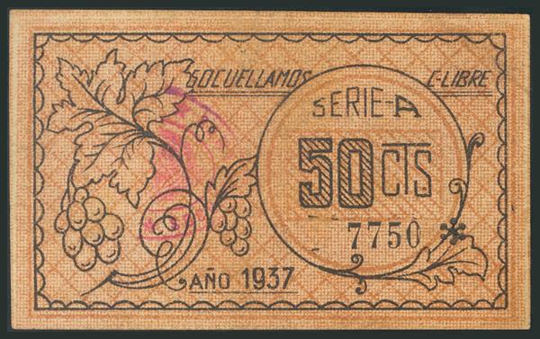 781 - SOCUELLAMOS (CIUDAD REAL). 50 Céntimos. (1937ca). (González: 4883). MBC+. - 25€
