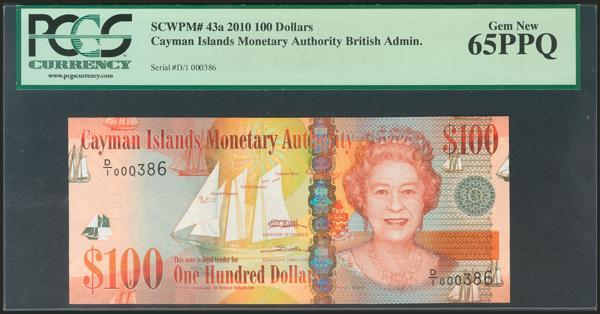 353 - CAYMAN ISLANDS. 100 Dollars. 2010. (Pick: 43a). PCGS 65PPQ. - 50€