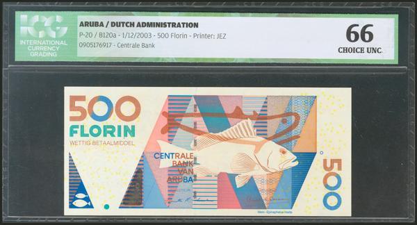 38 - ARUBA. 500 Florin. 1 December 2003. (Pick: 20). ICG66. - 60€
