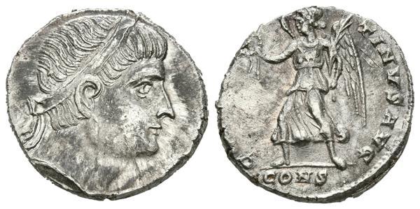 2227 - CONSTANTINO II. Siliqua. (Ar. 3,00g/17mm). 326 d.C. Constantinopla. (RIC 5). EBC. Bonito y escaso ejemplar. - 250€