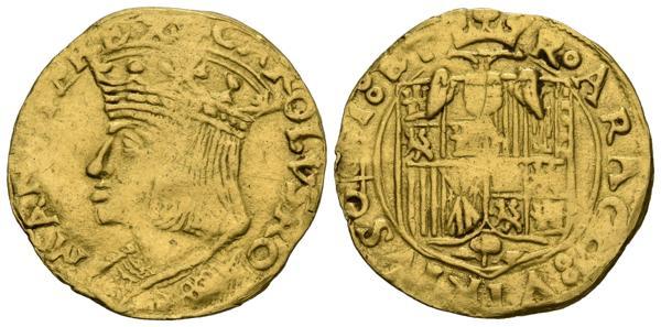2314 - CARLOS V (1516-1556). Ducado. (Au. 3,44g/22mm). S/D. Nápoles. (MIR 128; Pannuti-Riccio 6). MBC. Vanos de acuñación. Muy raro ejemplar.<BR><BR>Carlos I de España, V de Alemania pero también, aunque menos conocido, IV de Nápoles acuñó este magnífico Ducado durante el primer cuarto del siglo XVI. Estamos ante una pieza donde la simbología está presente en todo momento, destacando la leyenda imperial Rey de Romanos en el anverso y la heráldica del reverso, directamente heredada de Fernando el Católico, como rey de Nápoles, a la que sólo se ha añadido el águila bicéfala y el escusón de los Austrias en el pecho de la misma. Además, la misma leyenda del reverso destaca por la novedosa alusión al Reino de las Dos Sicilias, título que englobaba a los Reinos de Nápoles y Sicilia. - 2.500€