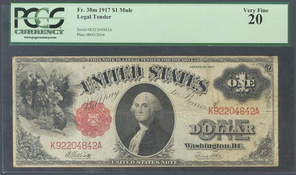 970 - ESTADOS UNIDOS (UNITED STATES). 1 Dollar. 1917. Serie K. (Pick: 187). Encapsulated PCGS 20. <BR> - 60€