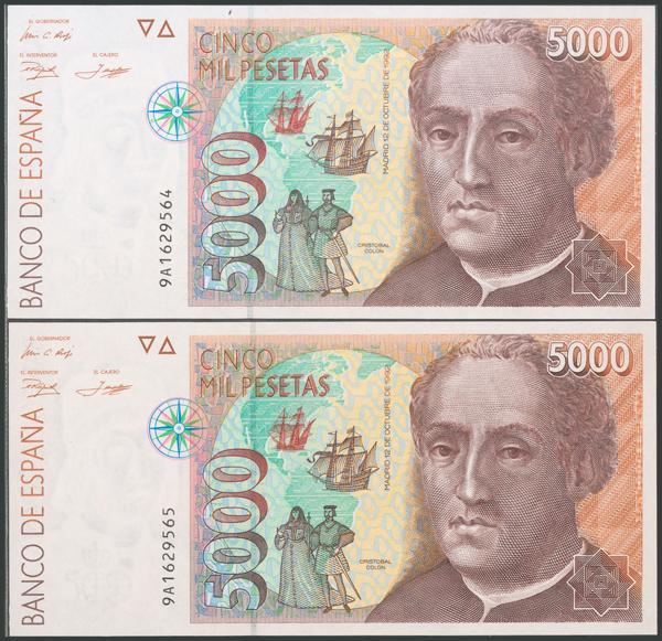 596 - Billetes Españoles