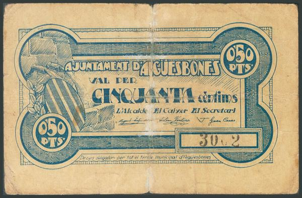 673 - Billetes Guerra Civil