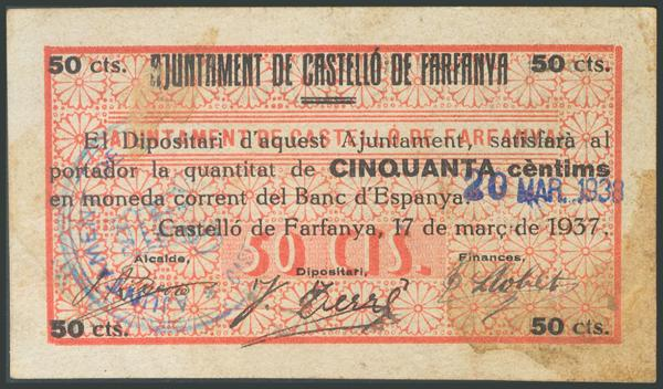 702 - Billetes Guerra Civil