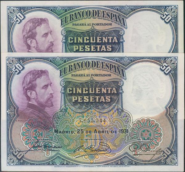 922 - Billetes Españoles
