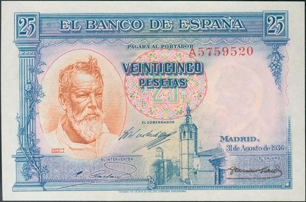 925 - Billetes Españoles