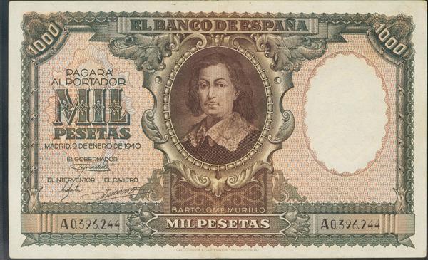 936 - Billetes Españoles