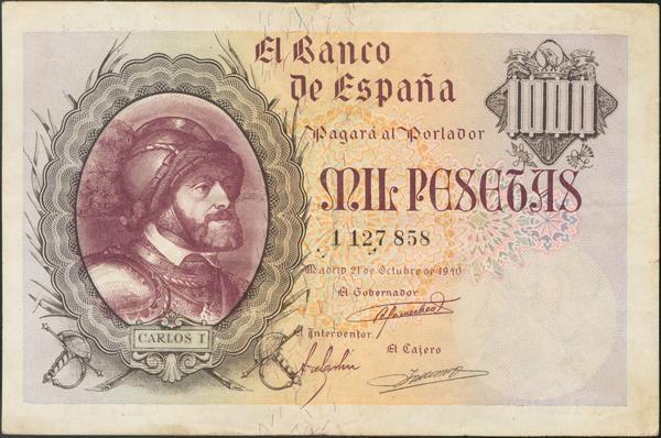 937 - Billetes Españoles