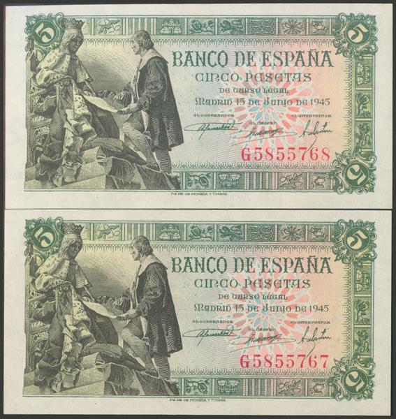 2292 - Billetes Españoles