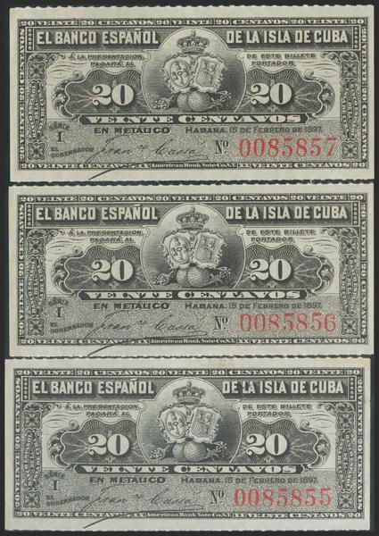 2733 - Billetes de Colonias y Otros