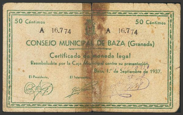 2776 - Billetes Guerra Civil