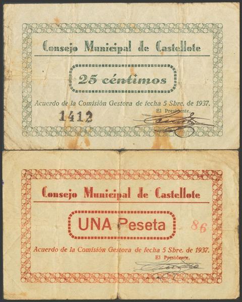 2787 - Billetes Guerra Civil