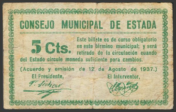 2795 - Billetes Guerra Civil