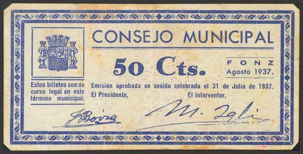 2796 - Billetes Guerra Civil