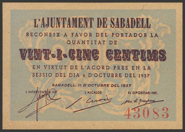 3002 - Billetes Guerra Civil