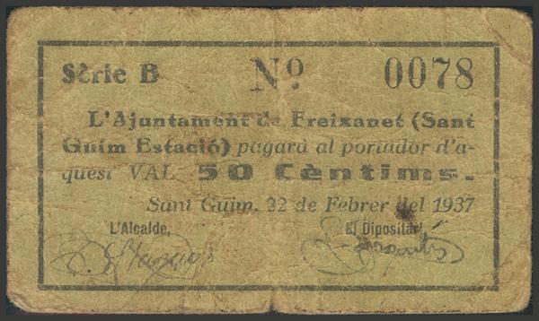 3006 - Billetes Guerra Civil