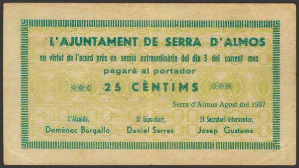 3008 - Billetes Guerra Civil