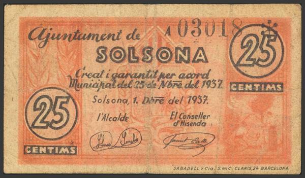 3011 - Billetes Guerra Civil