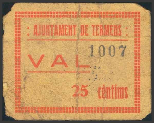 3017 - Billetes Guerra Civil