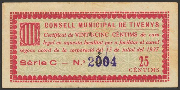 3020 - Billetes Guerra Civil