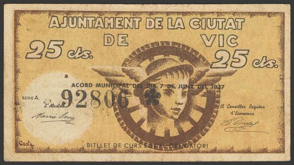 3037 - Billetes Guerra Civil