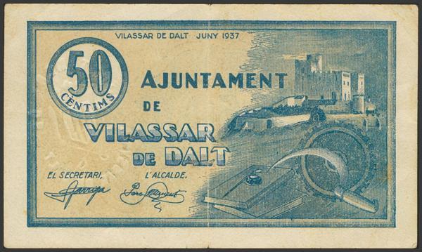 3051 - Billetes Guerra Civil