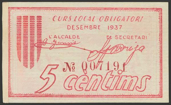 3053 - Billetes Guerra Civil