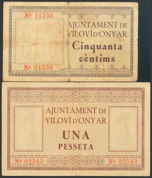 3054 - Billetes Guerra Civil