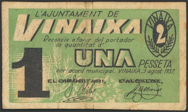 3055 - Billetes Guerra Civil