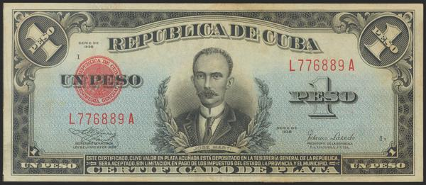 469 - CUBA. 1 Peso. 1938. (Pick: 69d). Uncirculated. - 50€