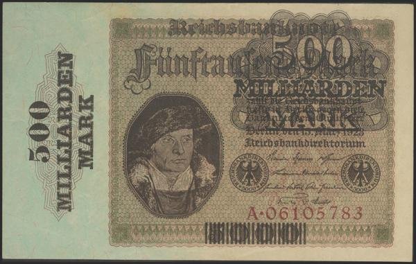 624 - GERMANY. 500 Milliarden Mark over 5000 Mark. 1923. (Pick: 124a). Extremely Fine. - 60€
