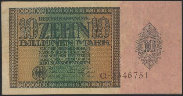 627 - GERMANY. 10 Billion Mark. 1924. (Pick: 137). Rare. Very Fine. - 300€