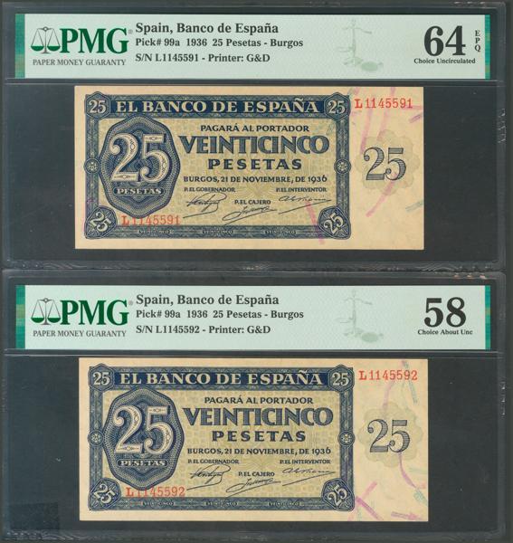2166 - Billetes Españoles