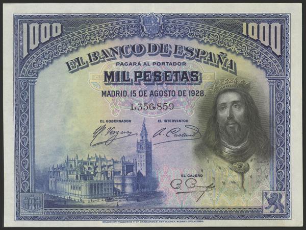 1437 - Billetes Españoles