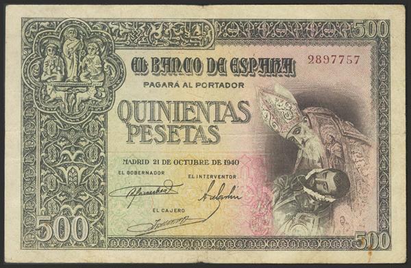 1474 - Billetes Españoles