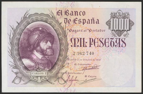 1475 - Billetes Españoles