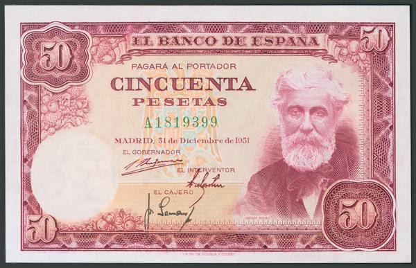 157 - Billetes Españoles
