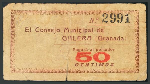 250 - Billetes Guerra Civil