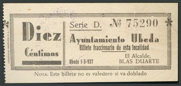 281 - Billetes Guerra Civil