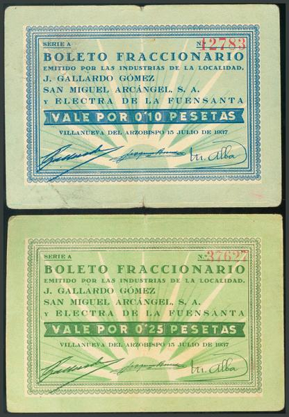283 - Billetes Guerra Civil